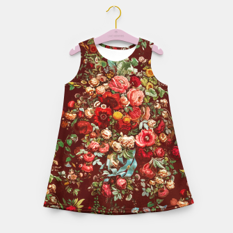 Miniatur Colorful floral Girl's summer dress, Live Heroes