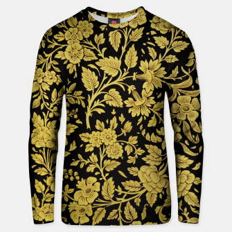 Thumbnail image of Golden flowers Unisex sweater, Live Heroes