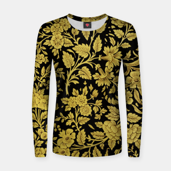 Thumbnail image of Golden flowers Women sweater, Live Heroes