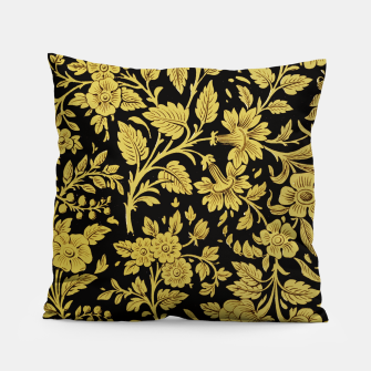 Thumbnail image of Golden flowers Pillow, Live Heroes