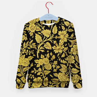Thumbnail image of Golden flowers Kid's sweater, Live Heroes
