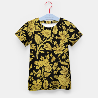 Thumbnail image of Golden flowers Kid's t-shirt, Live Heroes