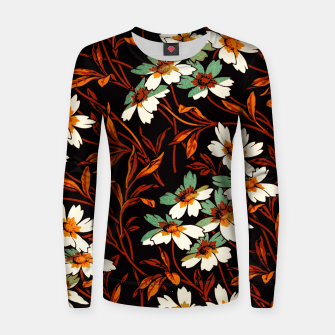 Thumbnail image of Ornamental flowers Women sweater, Live Heroes
