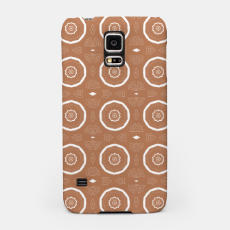 Thumbnail image of Patterned circles on brown Samsung Case, Live Heroes