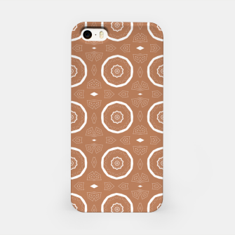 Thumbnail image of Patterned circles on brown iPhone Case, Live Heroes
