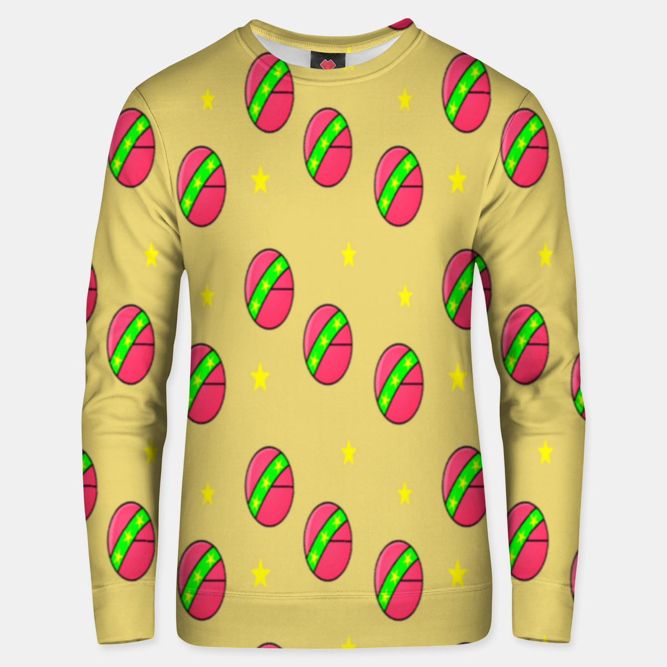 Image of Pink volley balls on brown Unisex sweater - Live Heroes