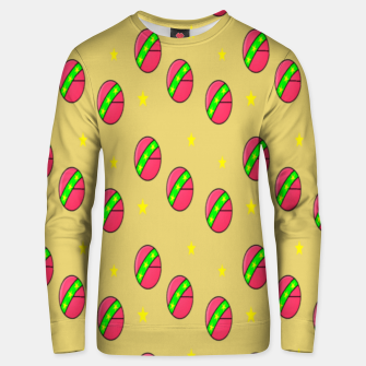 Thumbnail image of Pink volley balls on brown Unisex sweater, Live Heroes