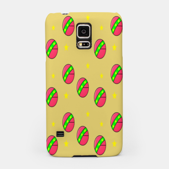 Pink volley balls on brown Samsung Case thumbnail image