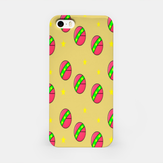 Pink volley balls on brown iPhone Case thumbnail image