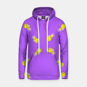 Thumbnail image of Yellow chicks on purple Hoodie, Live Heroes