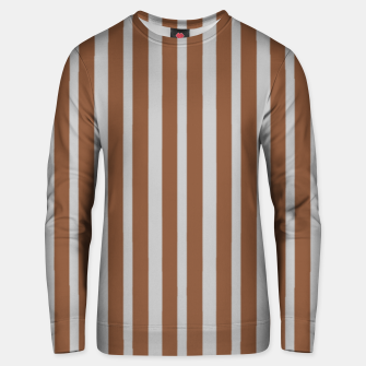 Thumbnail image of Brown and gray stripes Unisex sweater, Live Heroes
