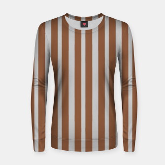 Miniatur Brown and gray stripes Women sweater, Live Heroes