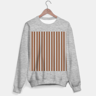 Brown and gray stripes Sweater regular thumbnail image
