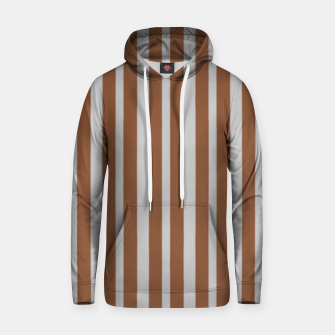 Brown and gray stripes Hoodie thumbnail image