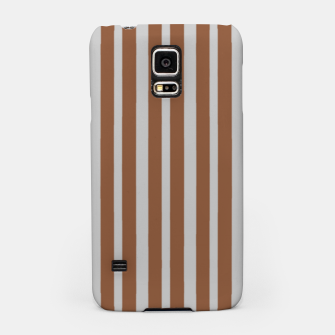 Brown and gray stripes Samsung Case thumbnail image