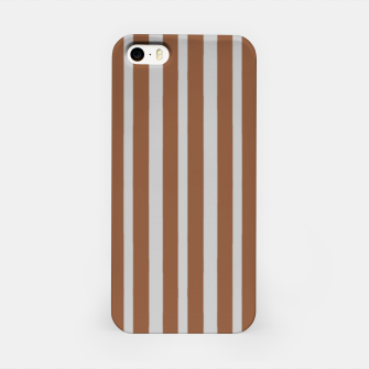 Brown and gray stripes iPhone Case thumbnail image