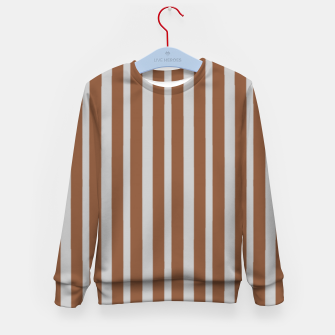 Brown and gray stripes Kid's sweater thumbnail image