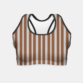 Brown and gray stripes Crop Top thumbnail image