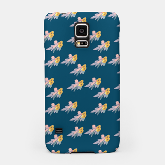 Thumbnail image of Trendy floral print on blue Samsung Case, Live Heroes