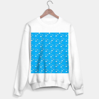 Hearts and clouds blue Sweater regular thumbnail image
