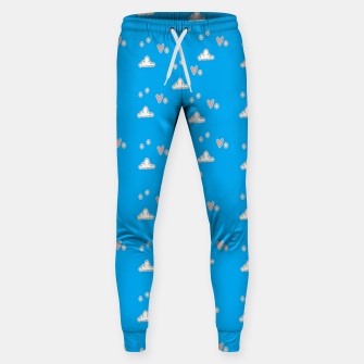 Hearts and clouds blue Sweatpants thumbnail image