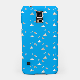 Hearts and clouds blue Samsung Case thumbnail image