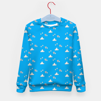 Hearts and clouds blue Kid's sweater thumbnail image