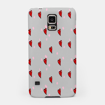 Red hearts on gray Samsung Case thumbnail image