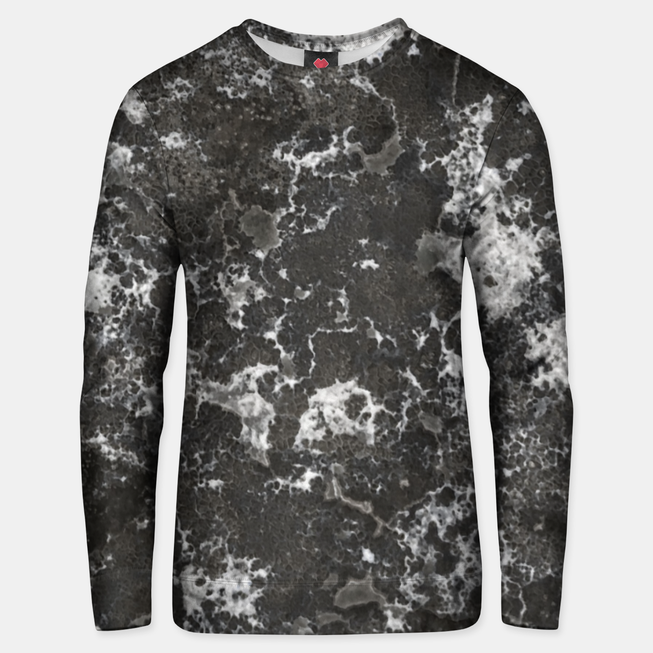 Image of Dark Marble Camouflage Texture Print Unisex sweater - Live Heroes