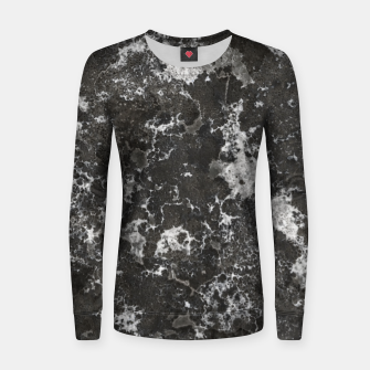 Thumbnail image of Dark Marble Camouflage Texture Print Women sweater, Live Heroes