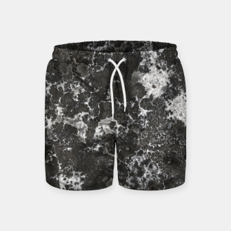 Thumbnail image of Dark Marble Camouflage Texture Print Swim Shorts, Live Heroes