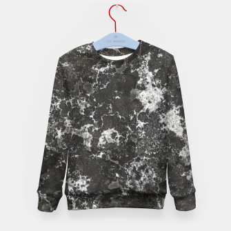 Thumbnail image of Dark Marble Camouflage Texture Print Kid's sweater, Live Heroes
