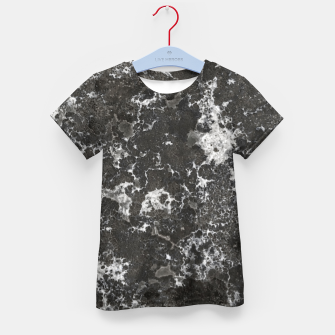 Thumbnail image of Dark Marble Camouflage Texture Print Kid's t-shirt, Live Heroes
