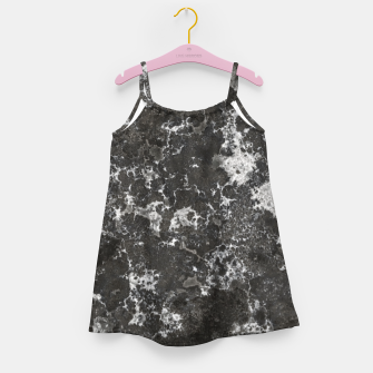 Thumbnail image of Dark Marble Camouflage Texture Print Girl's dress, Live Heroes