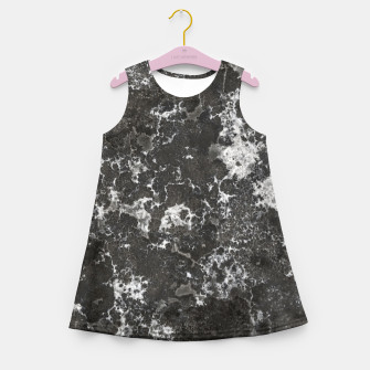 Thumbnail image of Dark Marble Camouflage Texture Print Girl's summer dress, Live Heroes