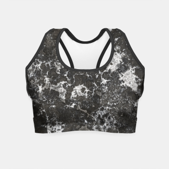 Thumbnail image of Dark Marble Camouflage Texture Print Crop Top, Live Heroes