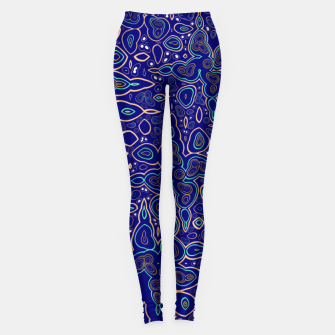 Thumbnail image of Millions and billions of stars, abstract starry night sky Leggings, Live Heroes