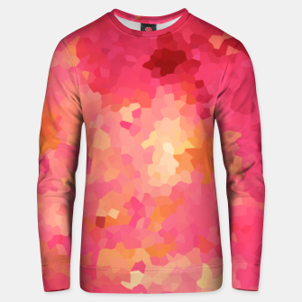 Thumbnail image of Hot fuchsia poly shape, mosaic abstract background, polygon geometry in bright colors Unisex sweater, Live Heroes