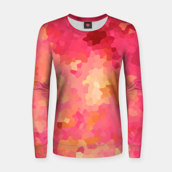 Thumbnail image of Hot fuchsia poly shape, mosaic abstract background, polygon geometry in bright colors Women sweater, Live Heroes