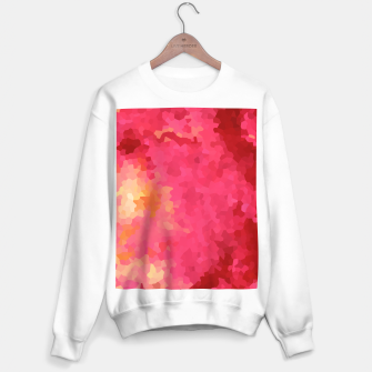Thumbnail image of Hot fuchsia poly shape, mosaic abstract background, polygon geometry in bright colors Sweater regular, Live Heroes