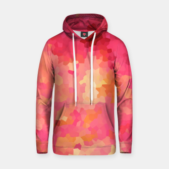 Thumbnail image of Hot fuchsia poly shape, mosaic abstract background, polygon geometry in bright colors Hoodie, Live Heroes