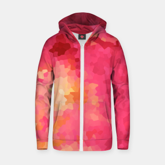 Thumbnail image of Hot fuchsia poly shape, mosaic abstract background, polygon geometry in bright colors Zip up hoodie, Live Heroes