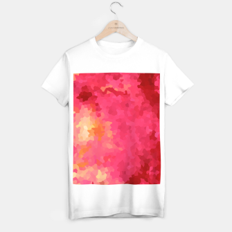 Thumbnail image of Hot fuchsia poly shape, mosaic abstract background, polygon geometry in bright colors T-shirt regular, Live Heroes