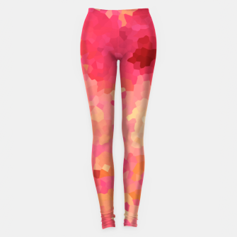 Thumbnail image of Hot fuchsia poly shape, mosaic abstract background, polygon geometry in bright colors Leggings, Live Heroes