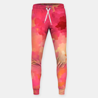 Thumbnail image of Hot fuchsia poly shape, mosaic abstract background, polygon geometry in bright colors Sweatpants, Live Heroes