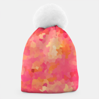 Thumbnail image of Hot fuchsia poly shape, mosaic abstract background, polygon geometry in bright colors Beanie, Live Heroes
