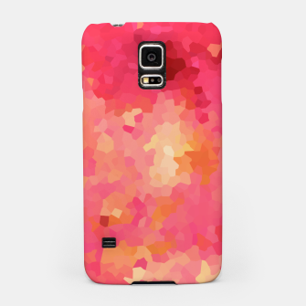 Thumbnail image of Hot fuchsia poly shape, mosaic abstract background, polygon geometry in bright colors Samsung Case, Live Heroes