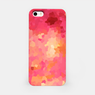 Thumbnail image of Hot fuchsia poly shape, mosaic abstract background, polygon geometry in bright colors iPhone Case, Live Heroes