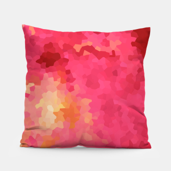 Thumbnail image of Hot fuchsia poly shape, mosaic abstract background, polygon geometry in bright colors Pillow, Live Heroes