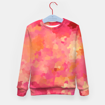 Thumbnail image of Hot fuchsia poly shape, mosaic abstract background, polygon geometry in bright colors Kid's sweater, Live Heroes
